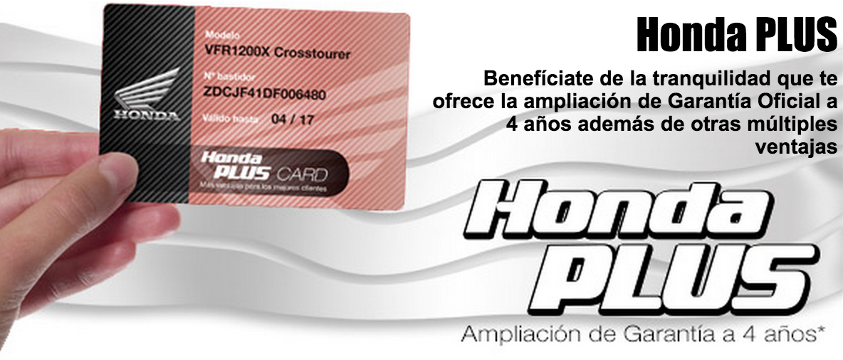 ¡Todas las ventajas con Honda Plus Option!